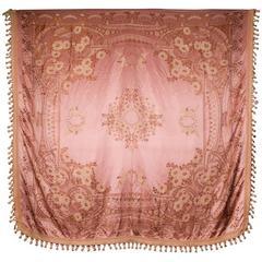 Beautiful and Fine Art Nouveau Silk Damask Coverlet