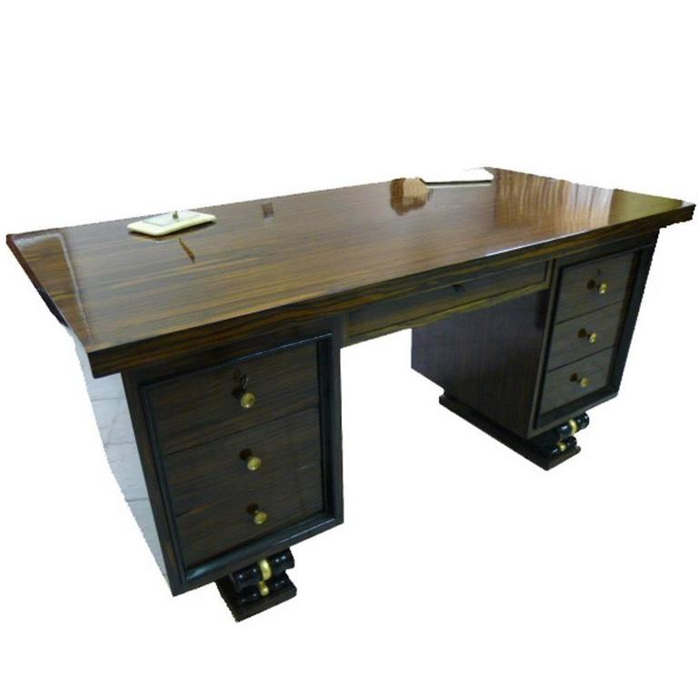 1930s, Art Deco, French, Macassar Desk