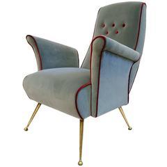 Italian Mid-Century Armchair with Spider Legs