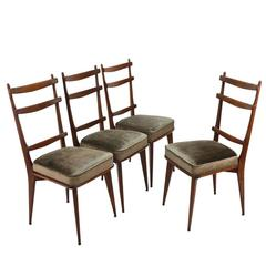 Set of Four Sculptural Italian Dining Chairs