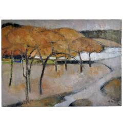 """""""Les Pins Parasols"""" Landscape Oil Painting"""