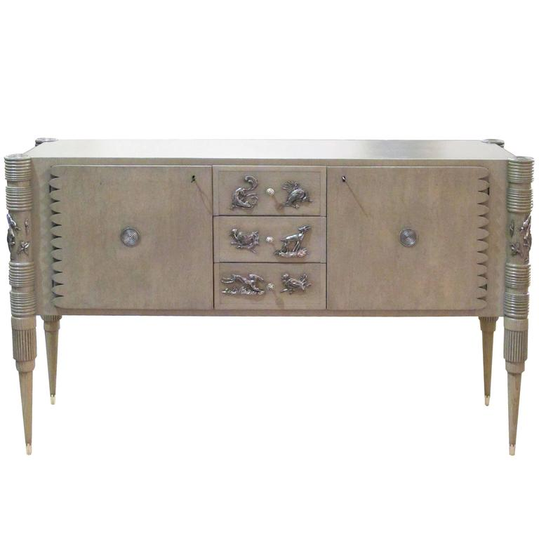 Striking Italian Sideboard Designed by Pier Luigi Colli for Fratelli Marelli