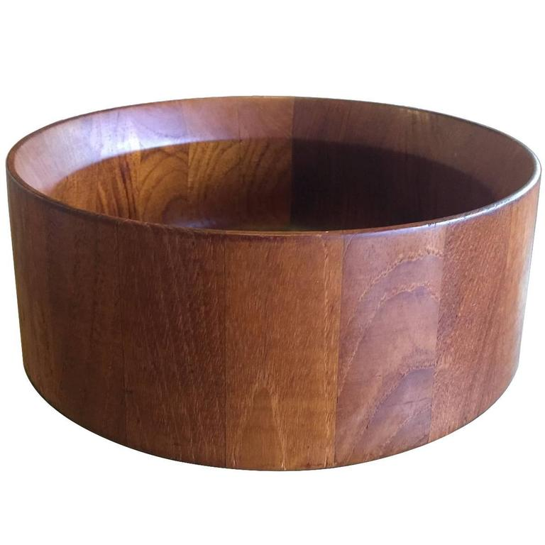 Mid-Century Staved Teak Bowl by Jens Quistgaard For Sale