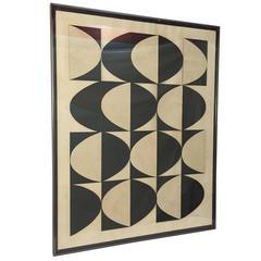 1960s Joanne Steiner Op Art Assemblage