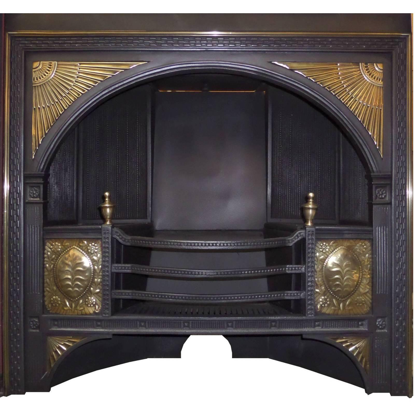 grate iron fireplace quot log cast open wood duty fire coal home furniture heavy furnishings basket