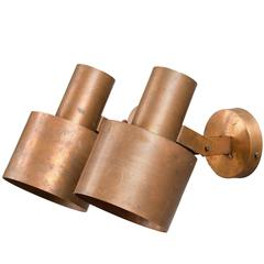 Pair of Wall Lights by Paavo Tynell in Solid Copper