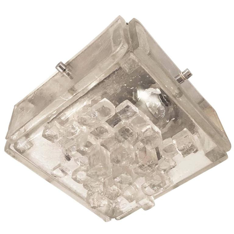 Square Flush Mount or Sconce by Poliarte