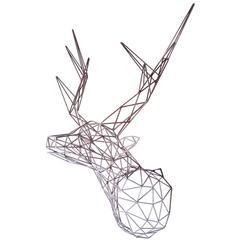Steel Deer Iron Sculpture