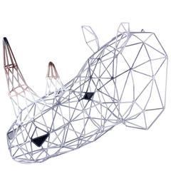 Rhino Iron Sculpture