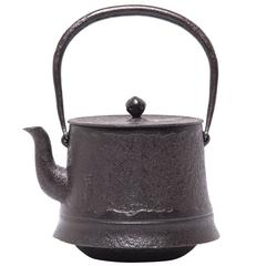 """Iron Bamboo"" Flared Japanese Tetsubin Kettle"