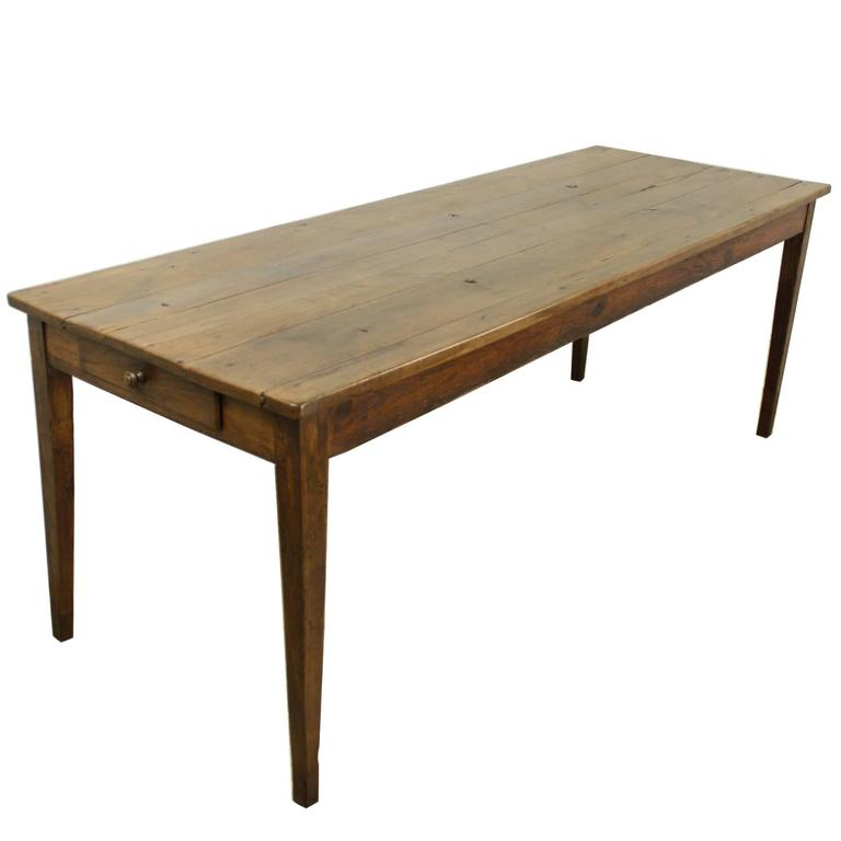 Antique Cherry Farm Table, One Drawer Nice Patina At 1stdibs