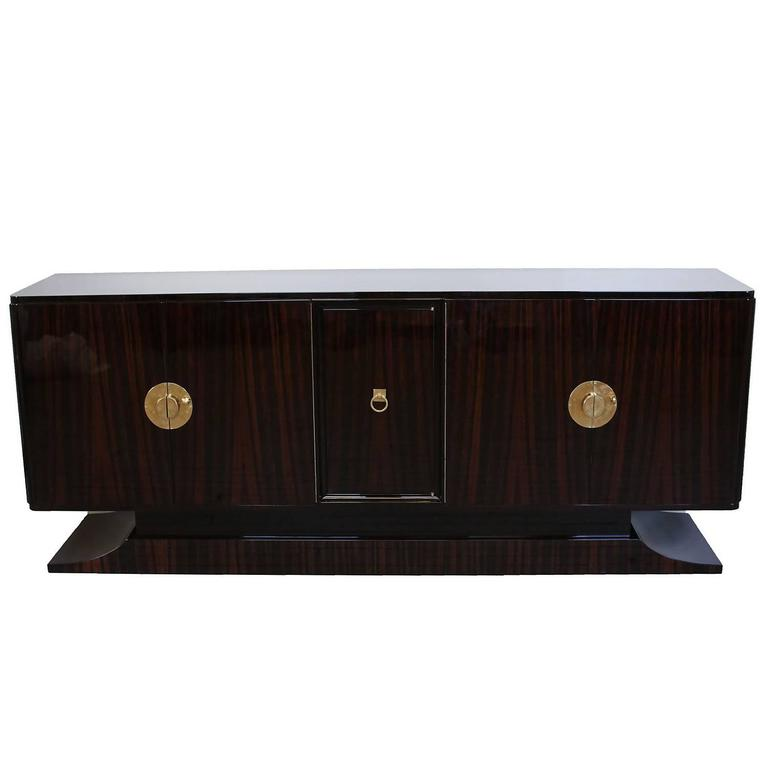 French Art Deco Macassar Ebony Sideboard circa 1930s 1