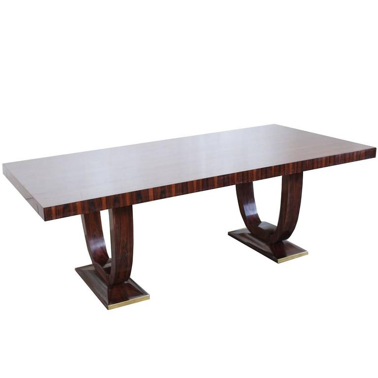 French Art Deco Rio Palissandre Dining Table circa 1935 For Sale at 1stdibs -> Table Tele Palissandre