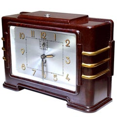 Original 1930s French Art Deco Bakelite Jaz Clock