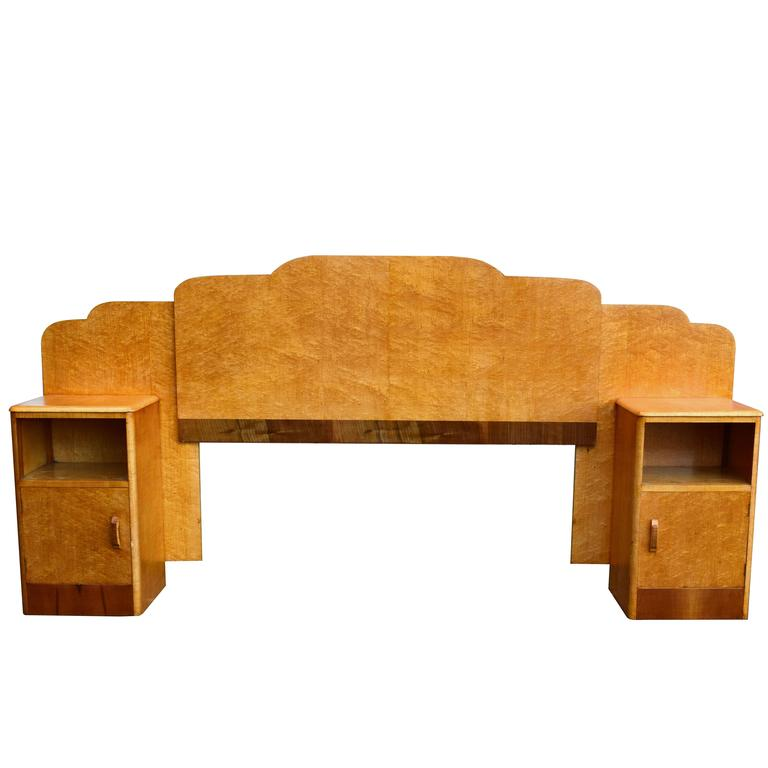 1930s Art Deco Birds Eye Maple Odeon Bed For Sale At 1stdibs