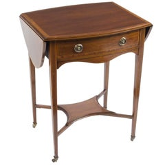 Early 20th Century Edwardian Inlaid Occasional Table