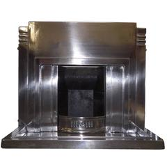 Antique 20th Century Art Deco Burnished Fireplace