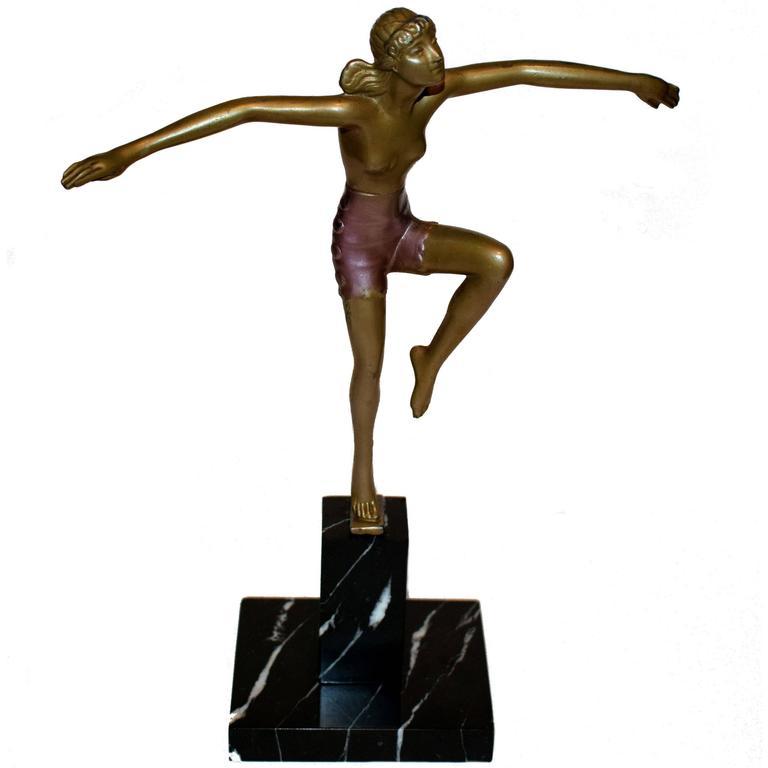 Original Art Deco Dancer Figure, circa 1930s For Sale