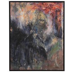 Abstract Oil Painting of an Old Woman