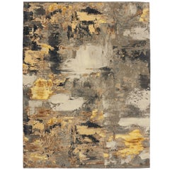 New Contemporary Area Rug with Abstract Expressionist Grunge Art Style