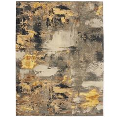 Modern Style Rug with Contemporary Abstract Texture