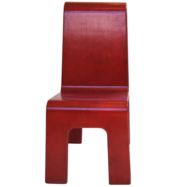 Kinder-Link Molded Maple Plywood Cut-Out Child Chair By