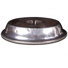 Gorham Silver Soldered Oval Entree Cover with Caryle Hotel Logo, circa 1930