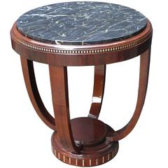 Art Deco Marble-Top Side Table