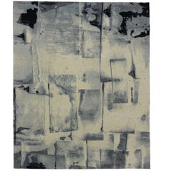 New Contemporary Rug with Abstract Expressionist Style and Paint Brush Strokes