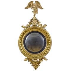 Large Girandole Mirror, American or English, circa 1810, Provenance Wayne Pratt