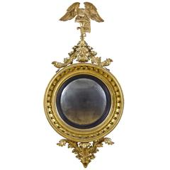 Large Girandole Mirror, American or English, circa 1810, Provenance Wayne Pratt