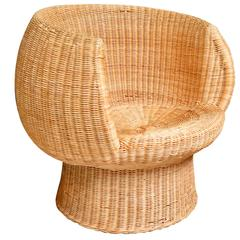 Sculptural Wicker Chair