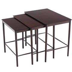 Very Nice Set of Three Rosewood Danish Nesting Tables