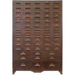 Monumental Wood Multi-Drawer Cabinet