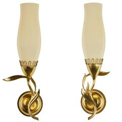 Unique Pair of Sconces by Paavo Tynell for Taito Oy