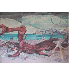 """John Skolle Painting, """"The Monster"""""""
