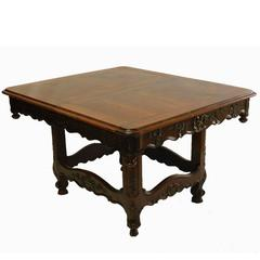 French, Provincial Dining Table Extending, Provencal, Louis Three Leaves
