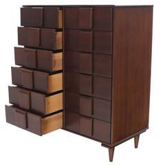 Unusual 12 Drawers Solid Maple Chest of Drawers