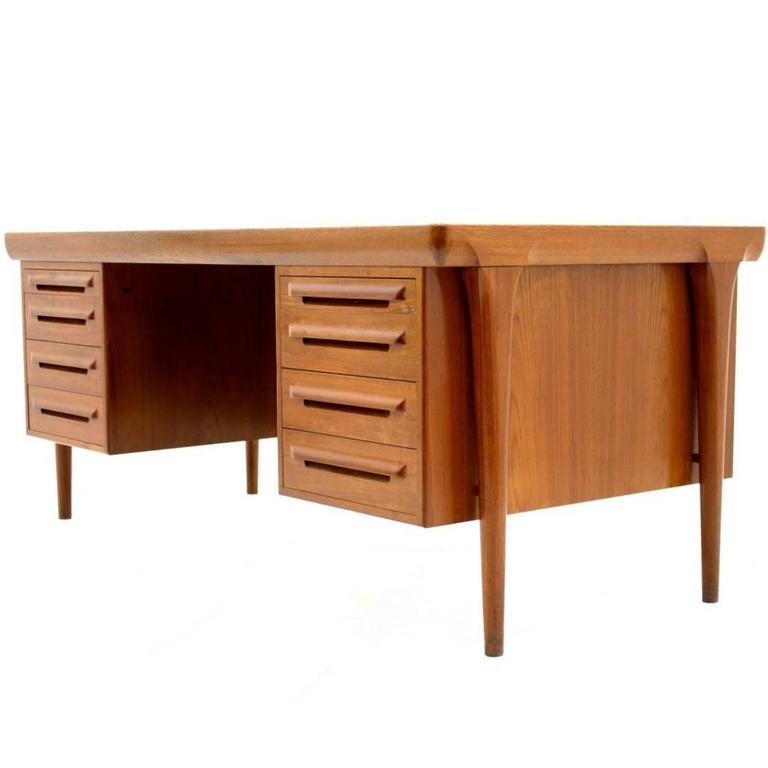 Teak Desk by Ib Kofod Larsen for Faarup Møbelfabrik, Denmark, 1960s
