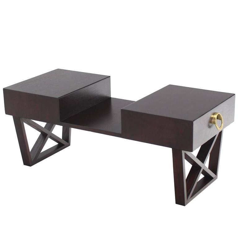 Coffee Table With Drawers Sale: Entry Coffee Table With Two Drawers For Sale At 1stdibs