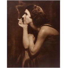 Photogravure of a Woman in an Evening Dress