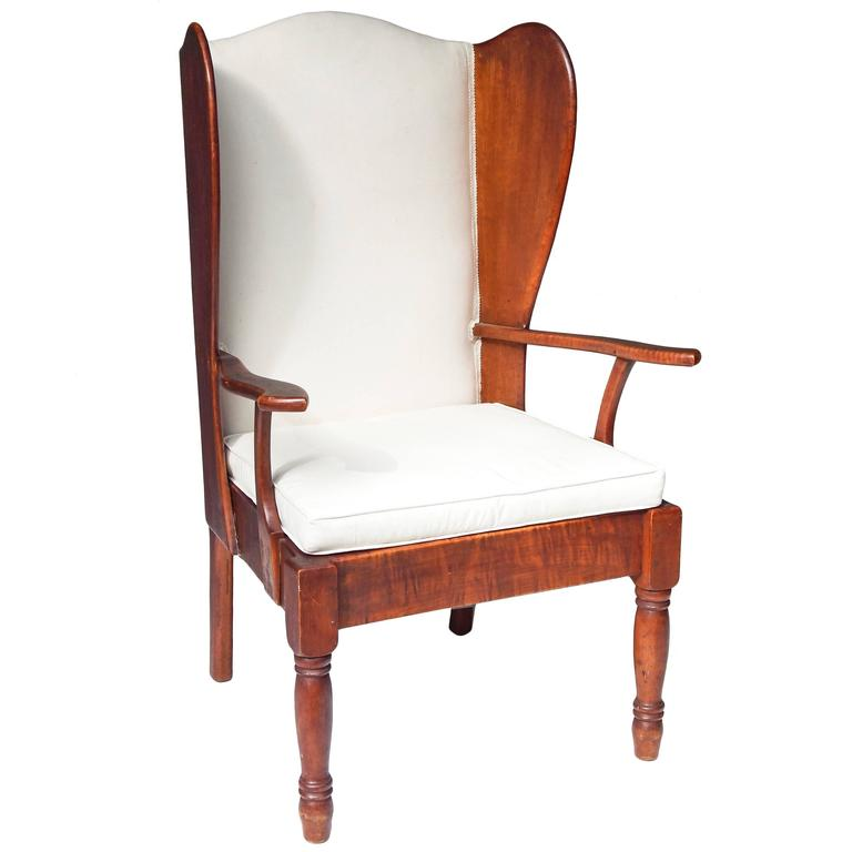 Wood Wing Chair At 1stdibs