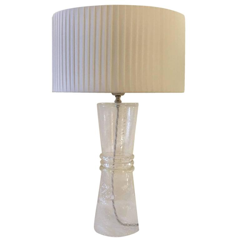 vintage murano glass table lamp for sale at 1stdibs. Black Bedroom Furniture Sets. Home Design Ideas