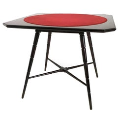 Italian Wooden Game Table Produced by Chiavari, 1950s