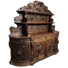 Richly Carved French Walnut Saint Hubert Buffet