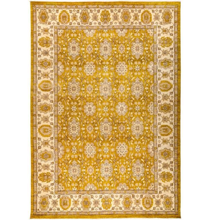 Eclectic Hand-Knotted Area Rug