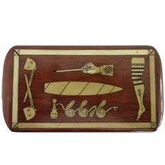 French Cigarette Box with Various Inlaid Images
