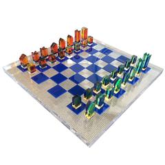 1960s Lucite Chess Set by Charles Hollis Jones
