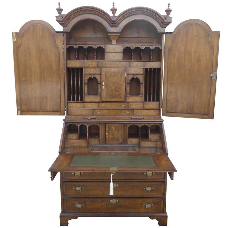 Early 19th Century Burr Walnut Secretary Bookcase