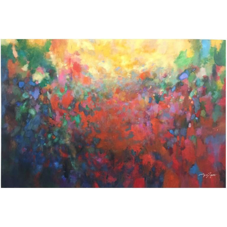"""Color Story VI"" Original Acrylic on Cavas / Wood Panel by Ryan Fugate, 2015"